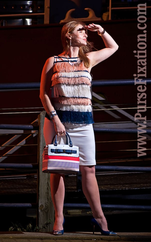 Maritime stripes coordinated outfit