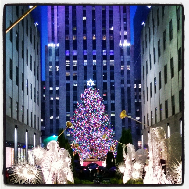 Rockefeller Center Christmas Tree, 5th Avenue, NYC.