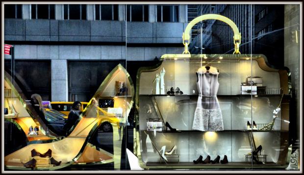 Salvatore Ferragamo Christmas Window Displays, NYC.