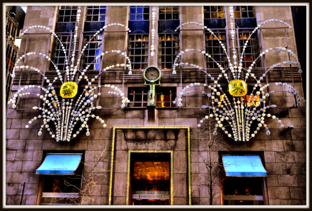 Tiffany & Co Christmas Window Display 5th Avenue, NYC.