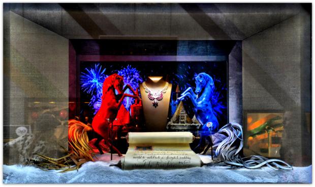 Van Cleef & Arpels Jewelry Christmas Window Display, 5th Avenue, NYC.