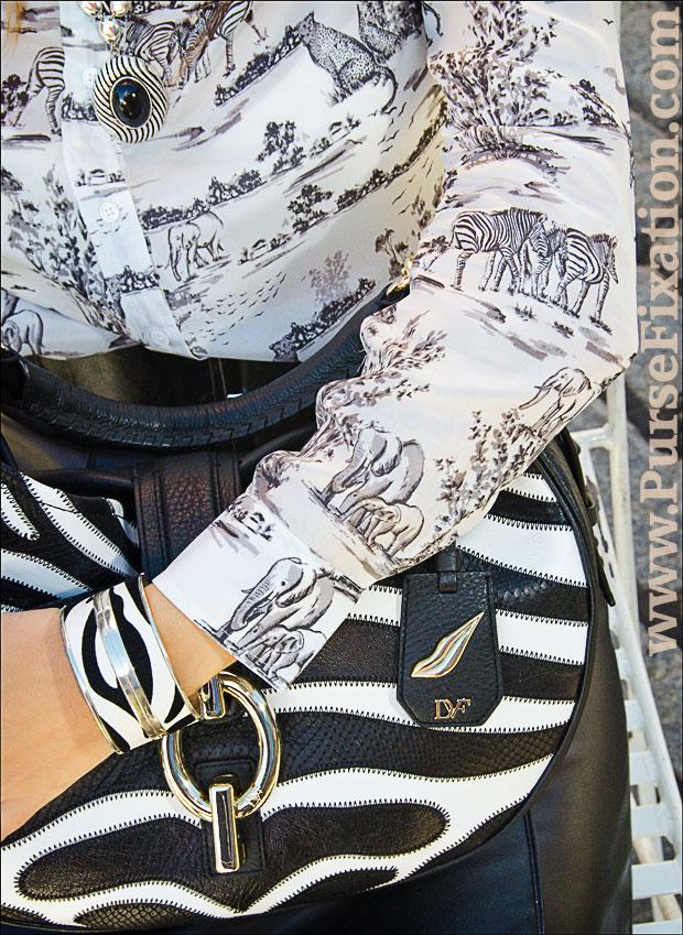 zebra print safari Joe fresh blouse