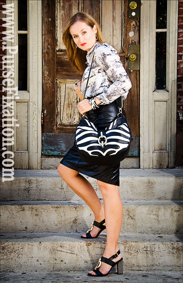 DVF zebra designer handbag, lovediane