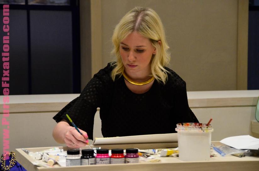 Fashion Illustrator Meagan Morrison at work