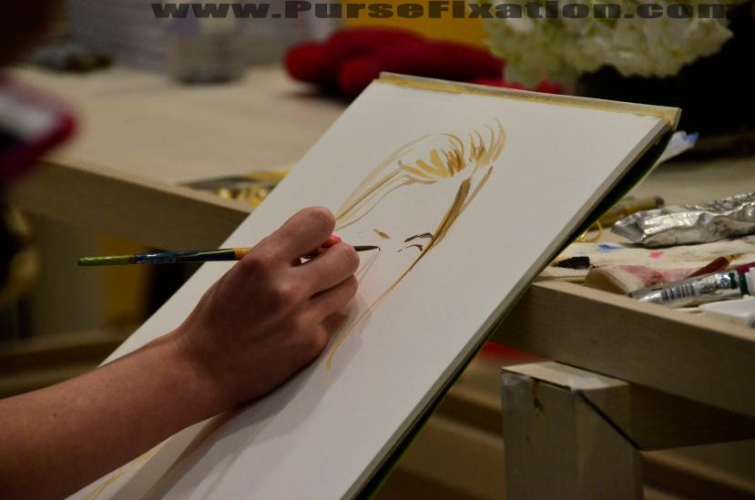 Meagan Morrison Fashion Illustrator at work