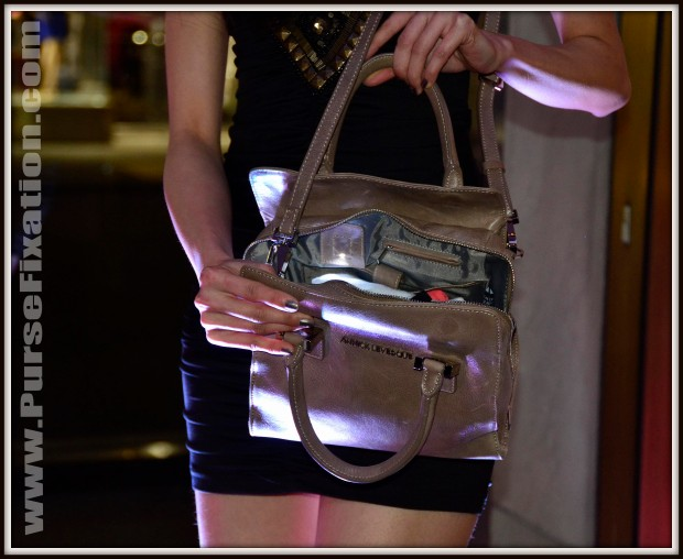 Annick Levesque Handbag with lit battery