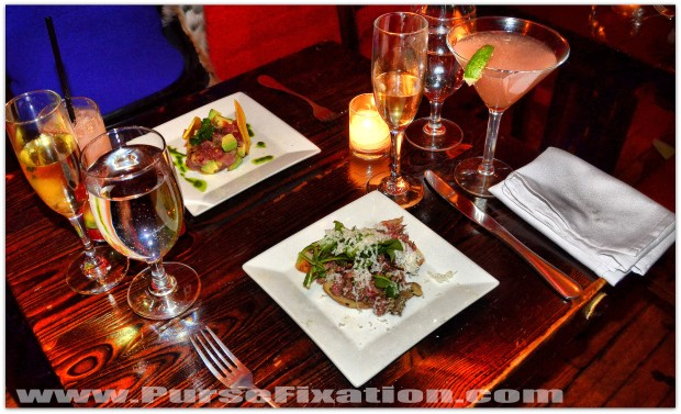 Tuna Ceviche and fillet mignon beef tartar in The Cuban Hoboken