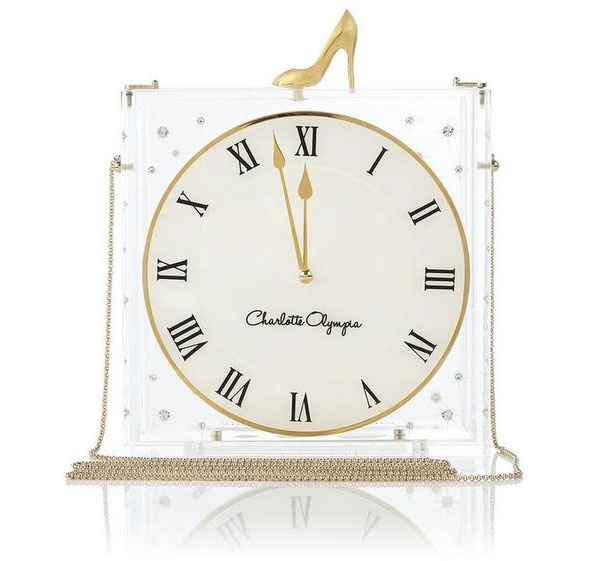 Charlotte Olympia Time Piece Cinderella Purse