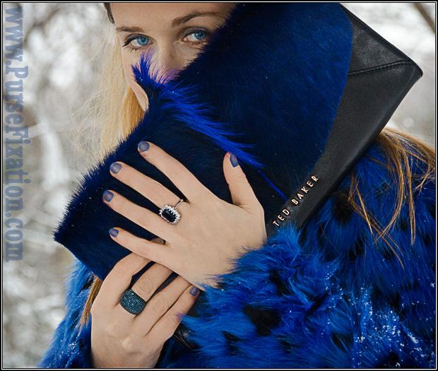 Ted Baker Moti Envelope Clutch in Blue