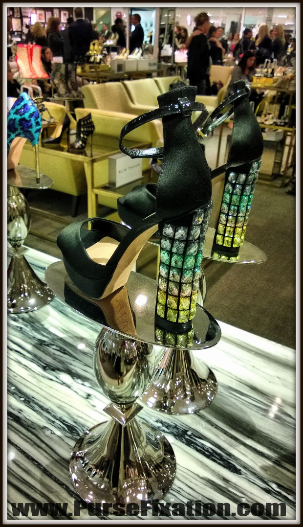 Jeweled heels at Lord and Taylor