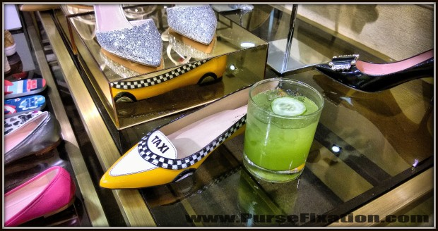 Kate Spade New York Yellow Taxi flats and cocktail at ShoesFirst  party