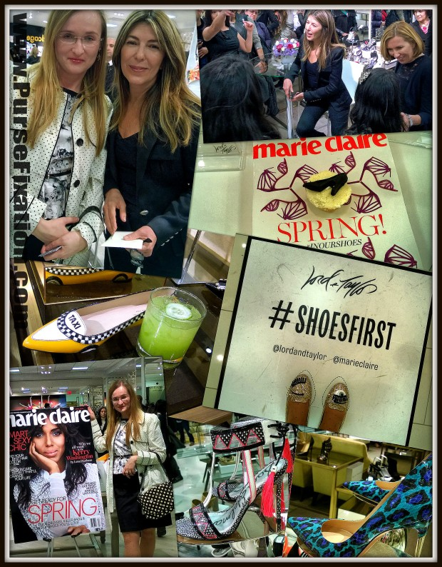 ShoesFirst with Nina Garcia Creative Director at Marie Claire Magazine event at Lord and Taylor, 5th Avenue, NYC
