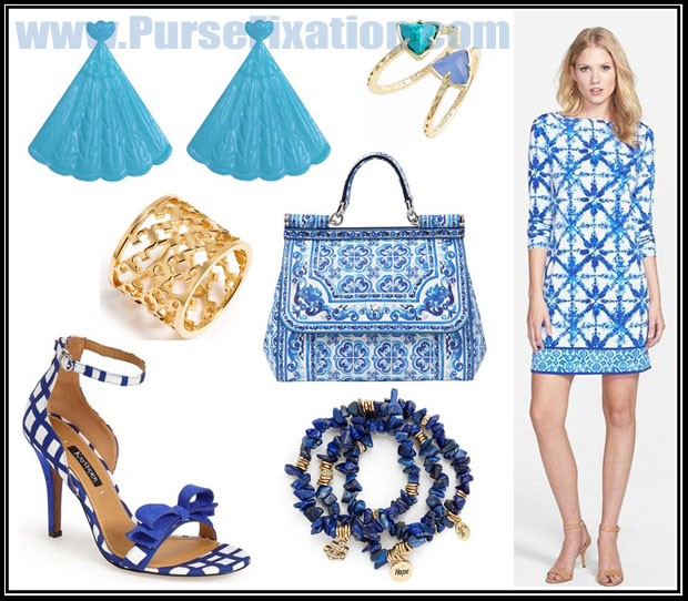 Dolce and Gabbana Mediterranean Sicilly Purse and matching outfit
